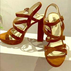 BCBGGeneration suede platform sandals